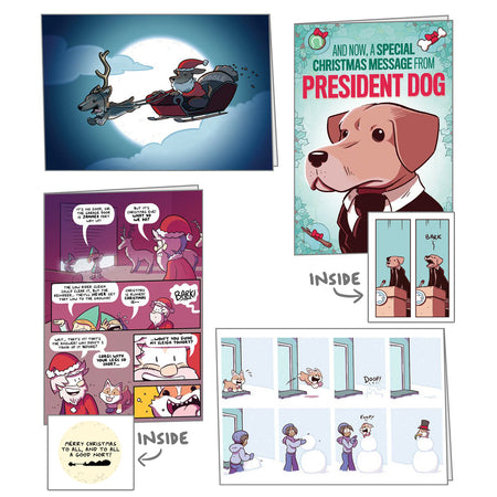 Exploding Dog Holiday Cards