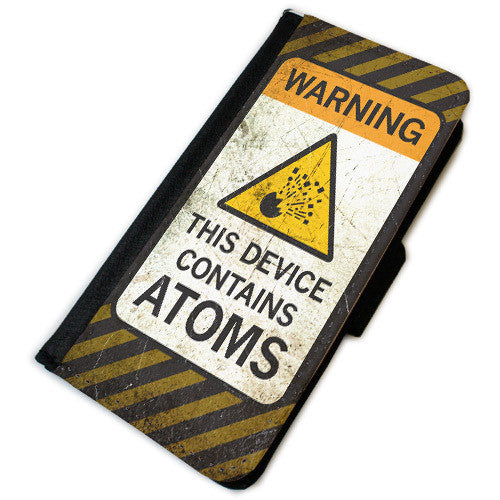 Atoms Warning Phone Wallet Case