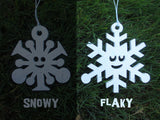 Happy Snowflake Ornaments