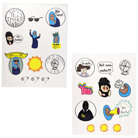Girl Genius Travel Sticker Set 02