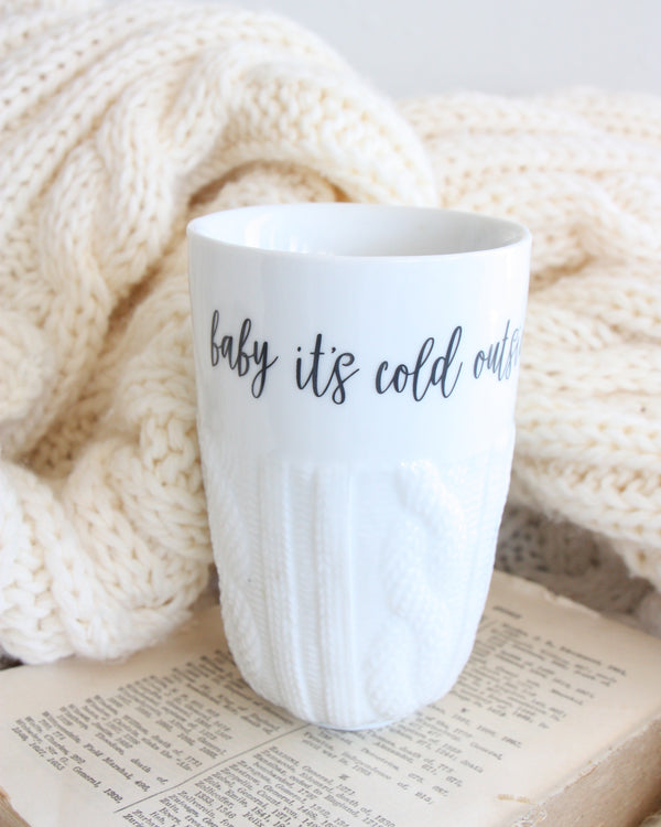 'BABY IT'S COLD OUTSIDE' MUG
