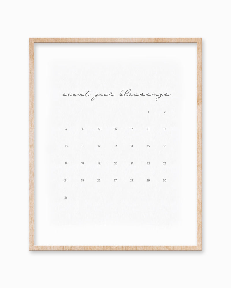 DOWNLOADABLE COUNTDOWN CALENDAR