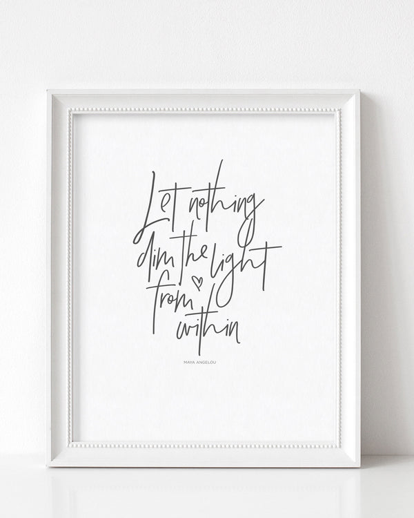 """LIGHT FROM WITHIN"" DOWNLOADABLE PRINT"