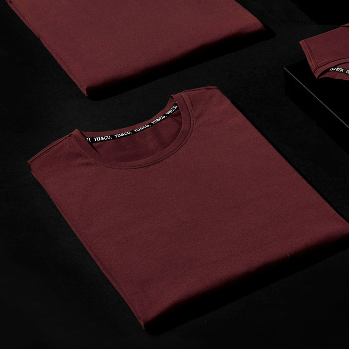 BURNT BURGUNDY SHORT SLEEVE