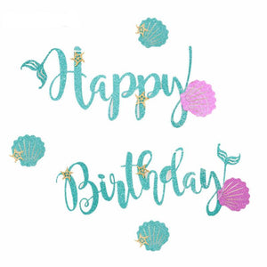 mermaid birthday banner