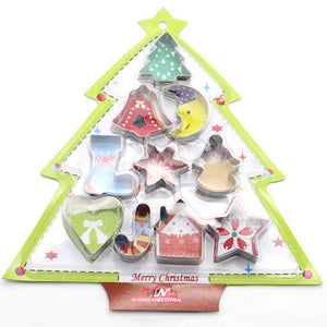 10 piece cookie cutter set