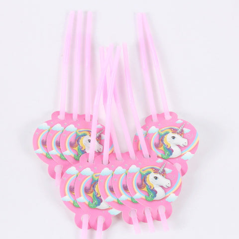 unicorn party straws