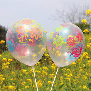 transparent flower balloons