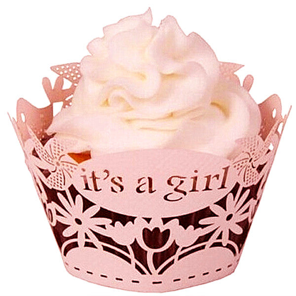 it's a girl cupcake wrapper
