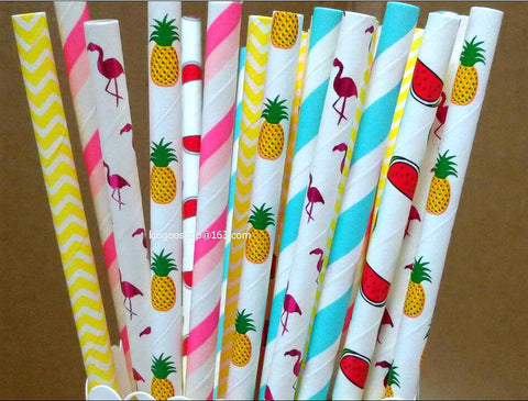 tropical straws