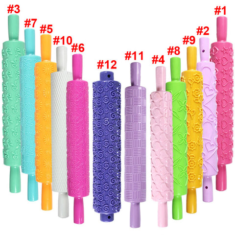 embossed fondant rolling pins