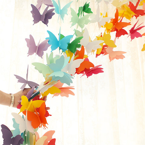 paper butterfly garland