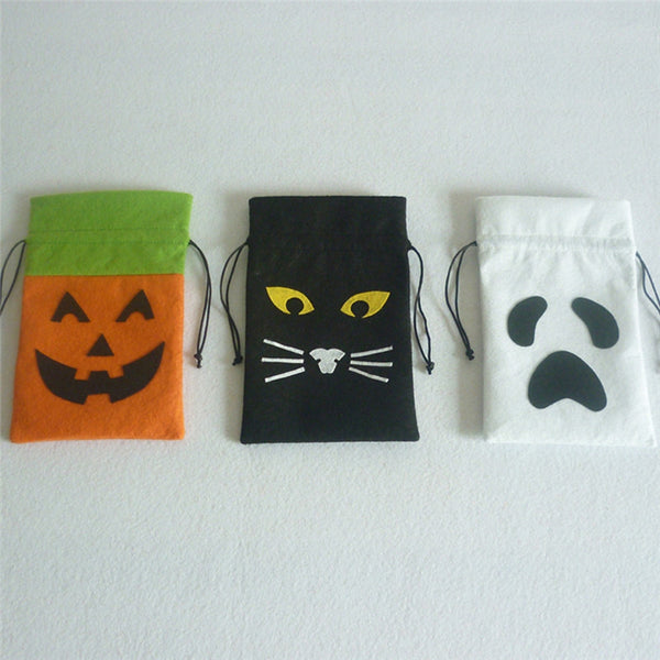 halloween cloth treat bags