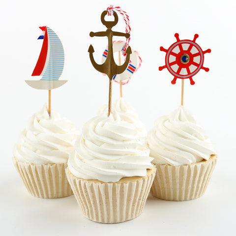 nautical cupcake picks
