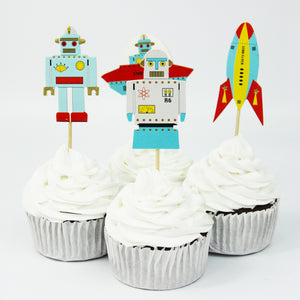 robot cupcake picks
