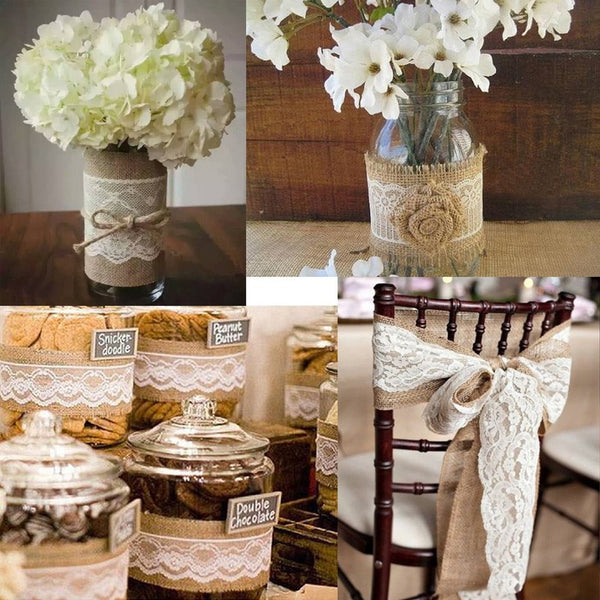 burlap and lace ribbon