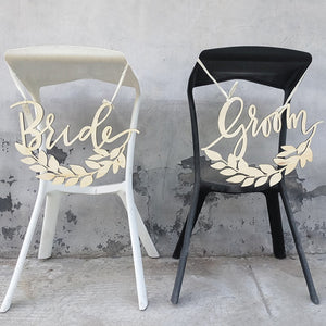 wooden chair signs