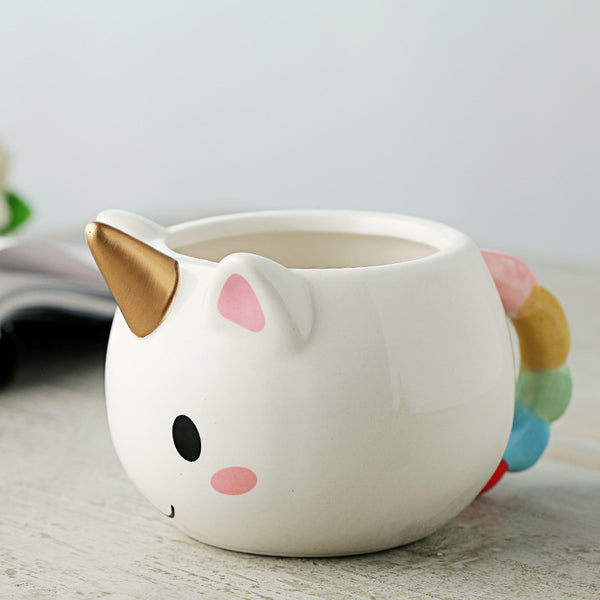 hand painted unicorn mug
