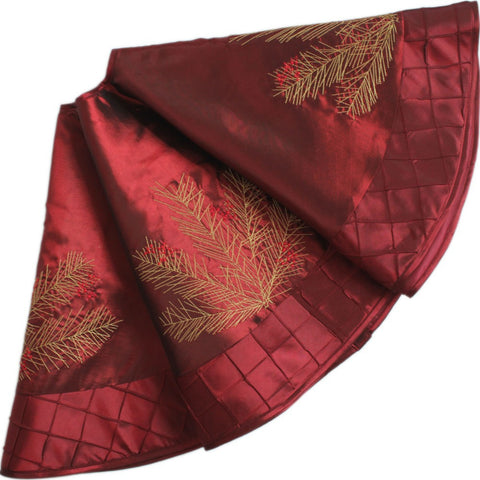 burgundy tree skirt