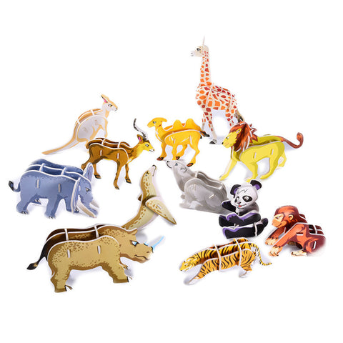 3d animal puzzles