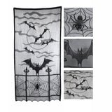 Black Lace Halloween Curtain
