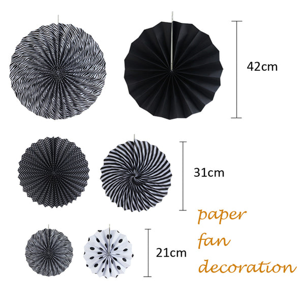 Paper Fan and Banner Decoration Set
