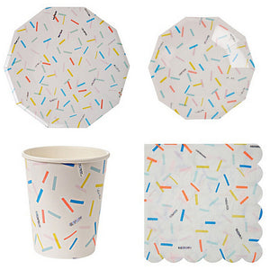 confetti tableware set