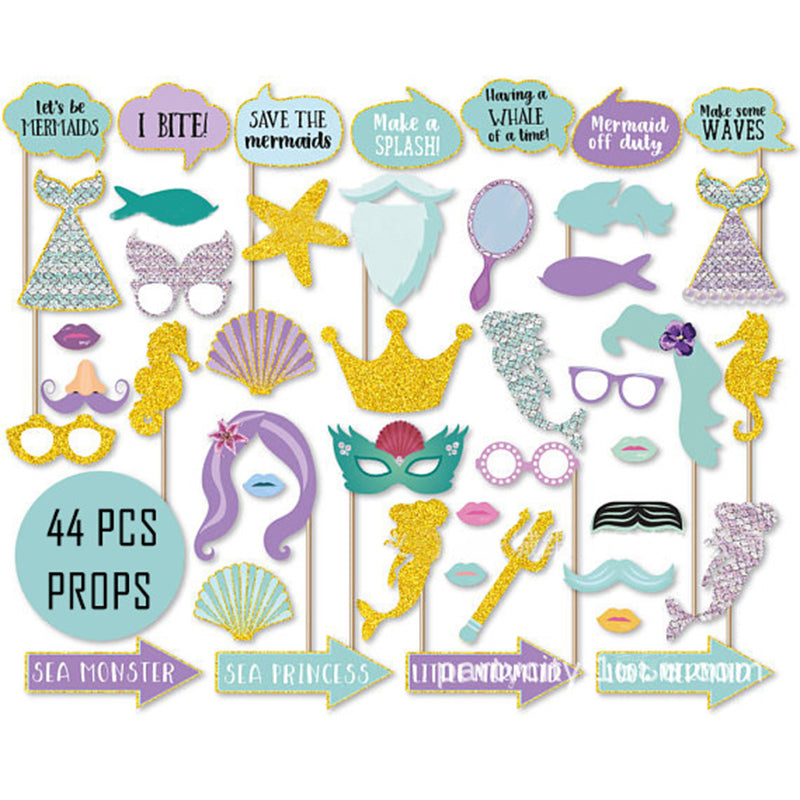 mermaid photobooth props