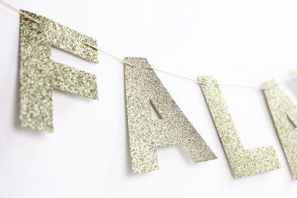 holiday gold glitter banner