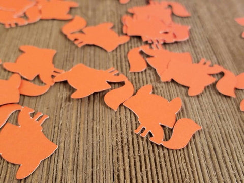 fox shaped confetti