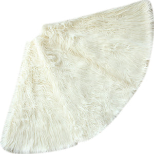 ivory faux fur tree skirt