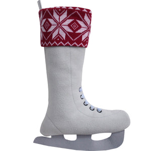 knitted snowflake stocking