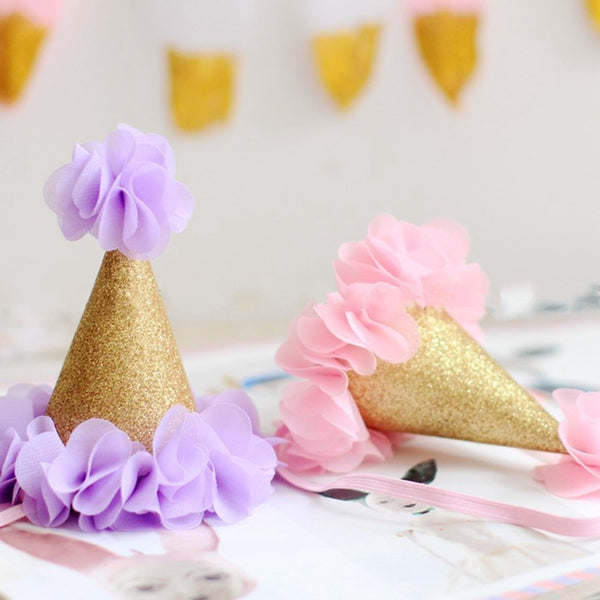 gold party hats