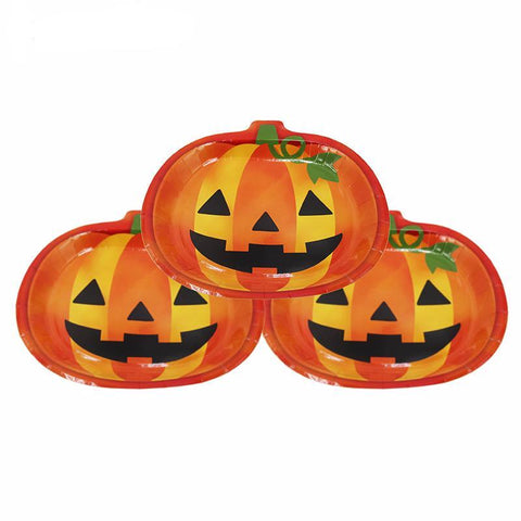 pumpkin shaped plates