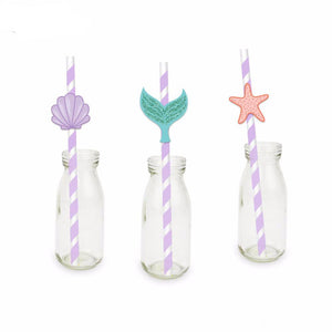 mermaid party straws