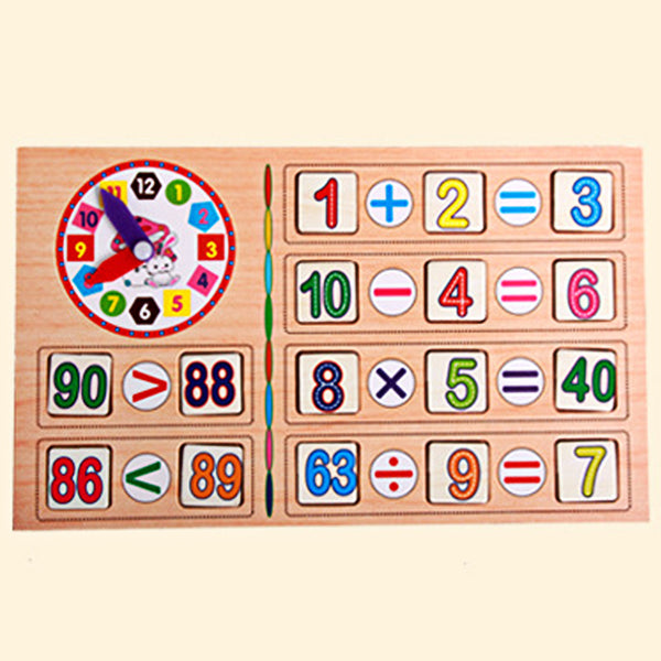 wooden math toy