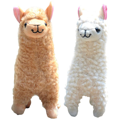 2 piece plush alpaca set