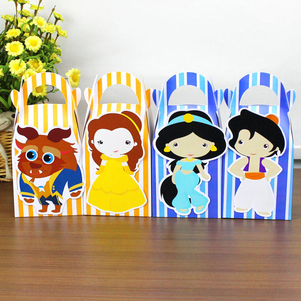 24 piece prince and princess favor box set