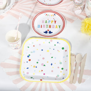 happy birthday tableware set