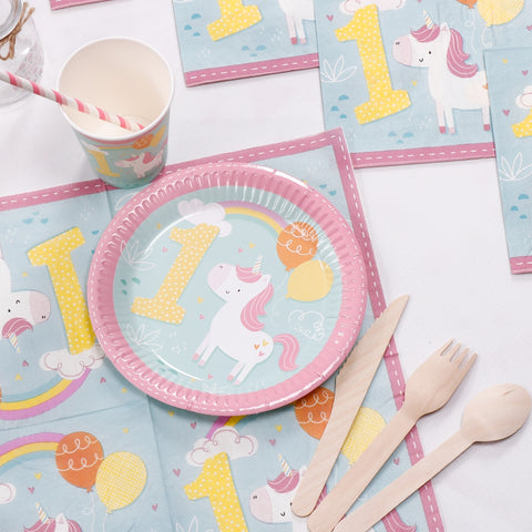 first birthday party set; first birthday party set ...  sc 1 st  Party Box Printables & First Birthday Unicorn Tableware Set u2013 Party Box Printables