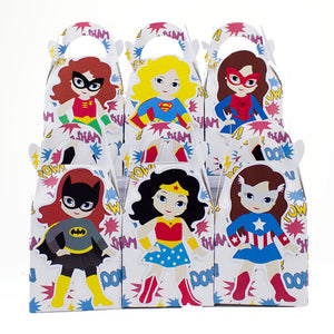 super girl favor boxes