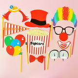 clown photo booth prop