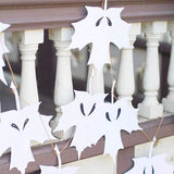 white leaf ghost garland