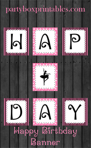 ballerina birthday party banner