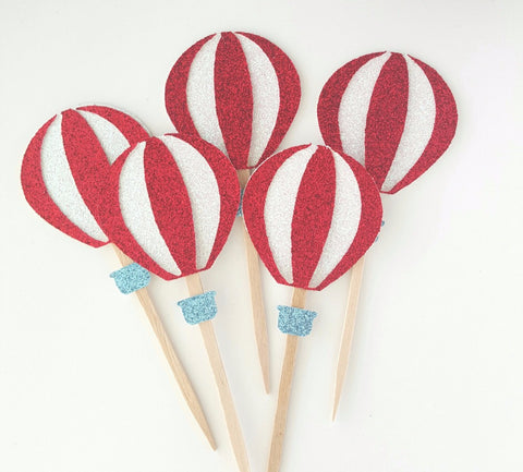 hot air balloon cupcake picks