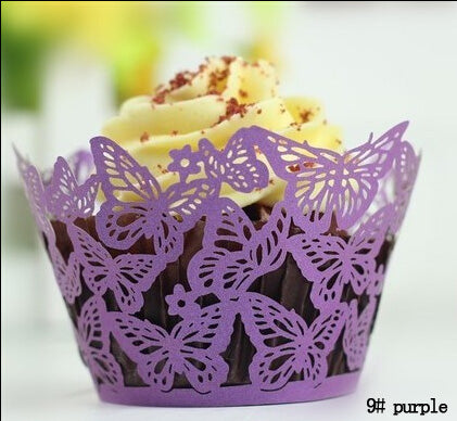 lazer cut butterfly cupcake wrapper