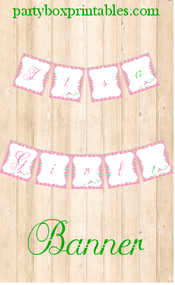 girl baby shower banner