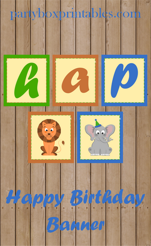 jungle birthday party hanging banner