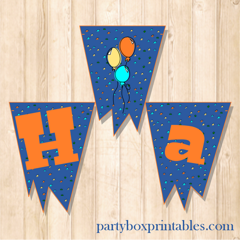 monster birthday party hanging banner