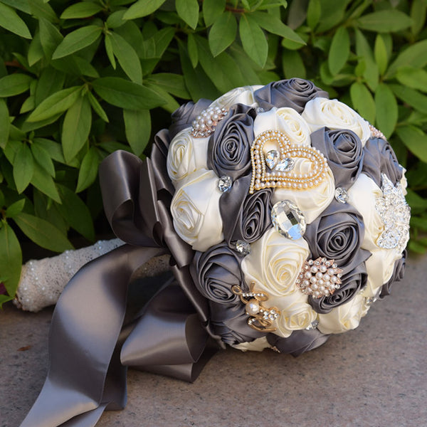 pearl and crystal bridal bouquets